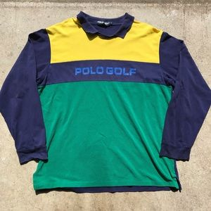 VTG Polo Ralph Lauren Color Blocked rugby shirt